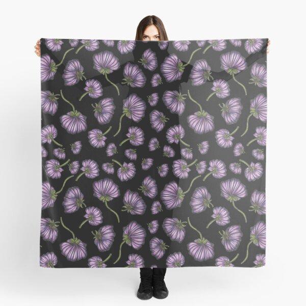 Purple flower rain Scarf