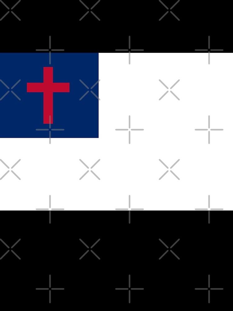 Christian Cross Flag Black Background by mark111wood