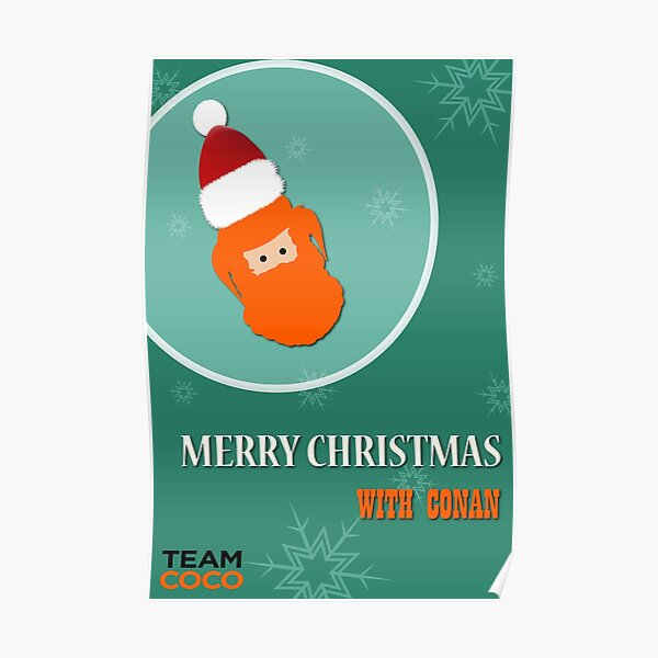 Merry Christmas Wishes with Conan Poster