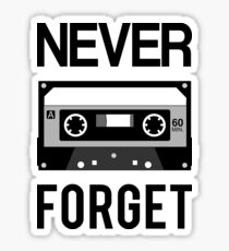 NEVER FORGET Cassette - Silicon Valley Parody with Tape Drawing Sticker