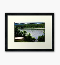 Another Camping Location Framed Print