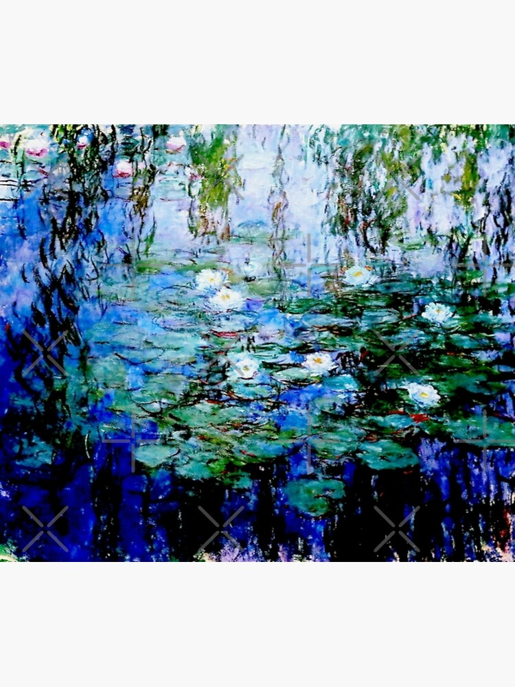 """Nymphéas Bleus"" by Claude Monet - 'Blue Water Lilies'  by Gascondi"