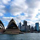 Sydney Opera House and Sydney Skyline by looneyatoms