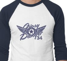Gipsy Danger Blue Faded Men's Baseball ¾ T-Shirt