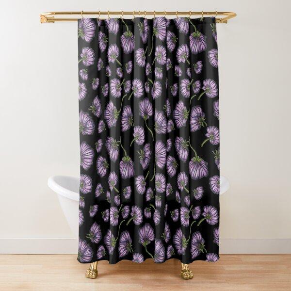 Purple flower rain Shower Curtain