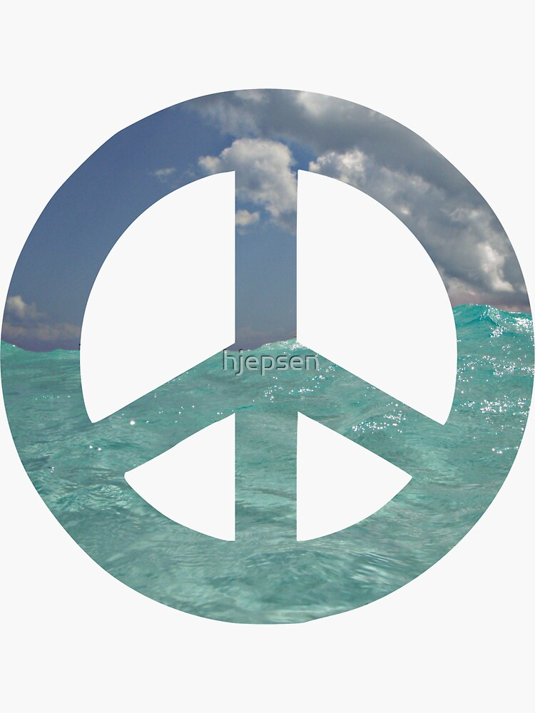 Peace Sign with Ocean Waves by hjepsen