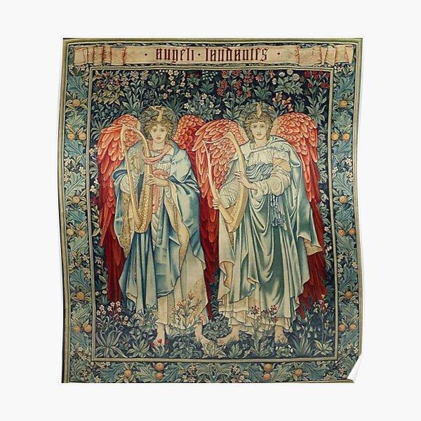 Angeli Laudantes - Edward Burne-Jones Poster