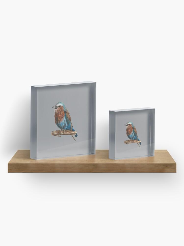 Alternate view of Blue bird Acrylic Block