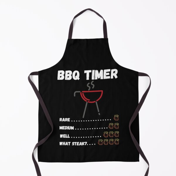 BBQ Timer One Two Three Four Beers What Steak? - by Boo-da-chay Apron