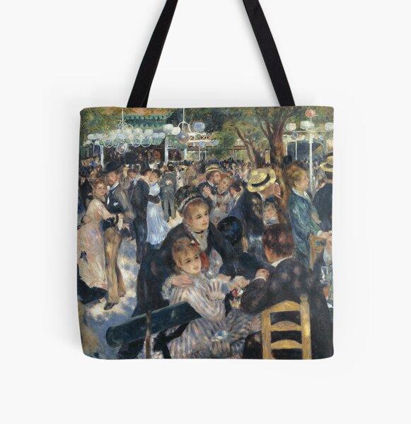 Bal du moulin de la Galette - Pierre-Auguste Renoir All Over Print Tote Bag