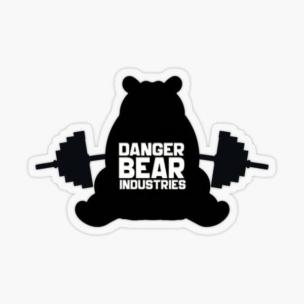 Fitness Bear from Danger Bear Industries Transparent Sticker