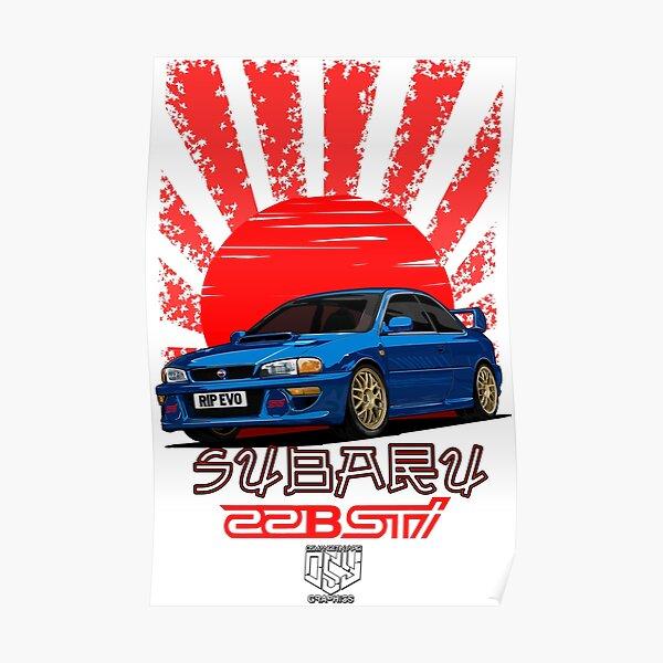 Impreza 22B WRX STI - R.I.P. EVO (Blue) Poster