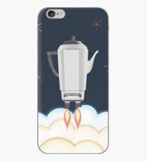 Retro sci fi coffee pot percolator rocket ship iPhone Case