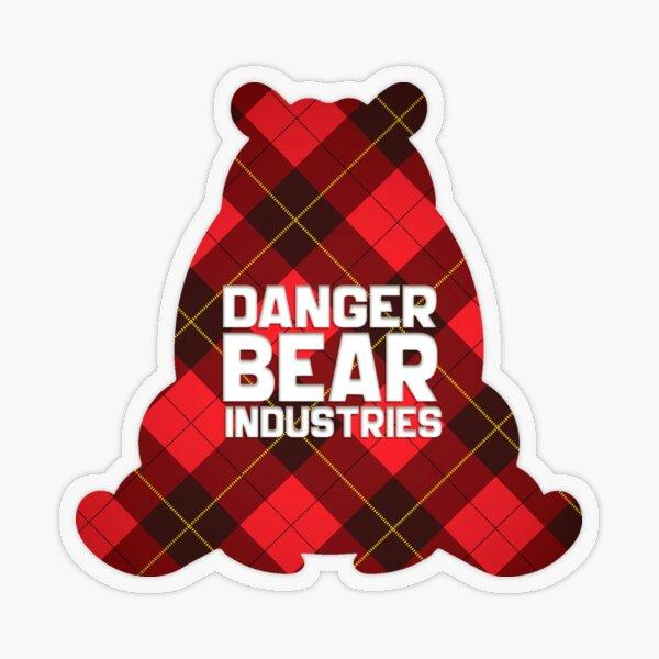 Plaid Bear from Danger Bear Industries Transparent Sticker