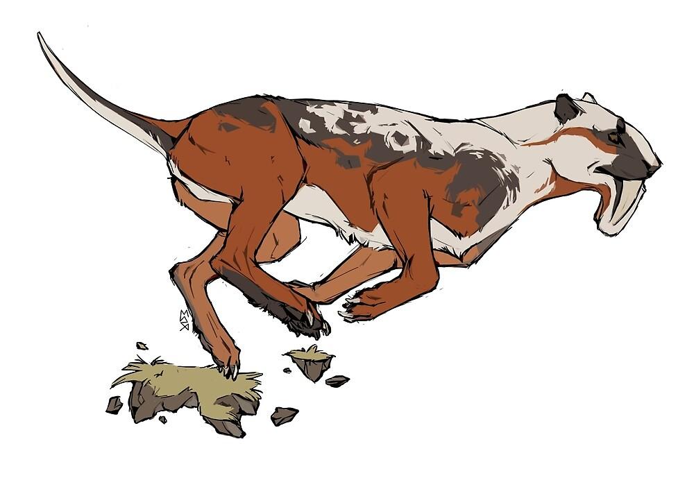 Thylacosmilus by Maxine Penders