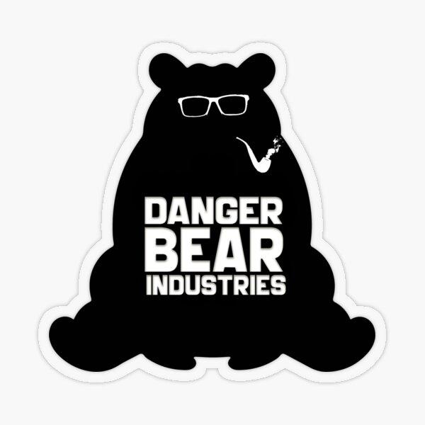 Writing Bear from Danger Bear Industries Transparent Sticker