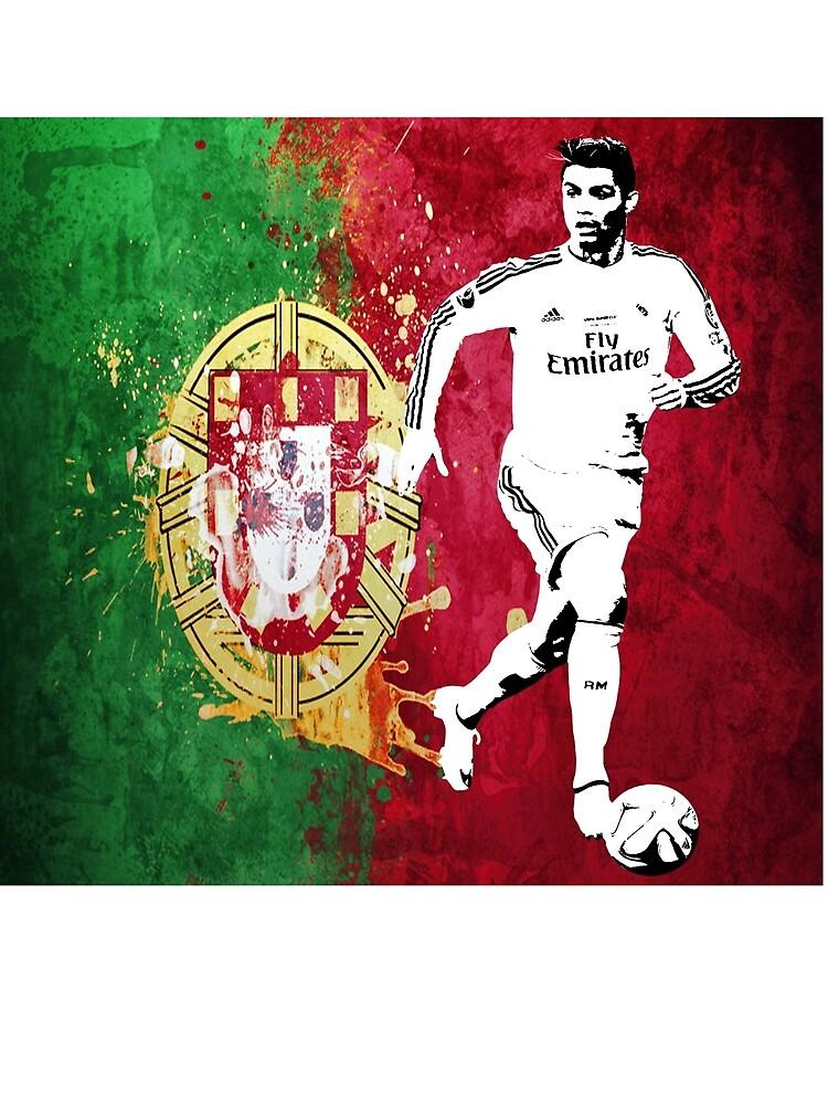 Cristaino Ronaldo Portugal Flag  by RighteousOnix