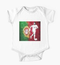 Cristaino Ronaldo Portugal Flag  One Piece - Short Sleeve