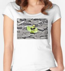floating Women's Fitted Scoop T-Shirt