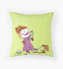 Sally wants to look like her mommy Throw Pillow