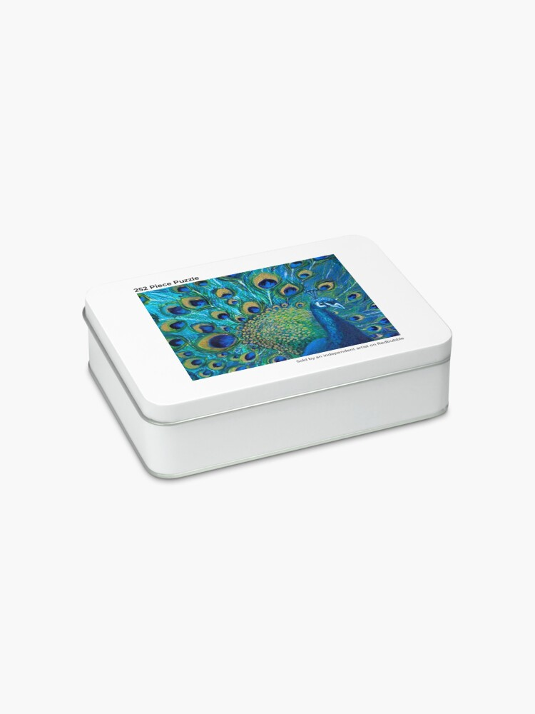 Alternate view of Full Glory Peacock Jigsaw Puzzle