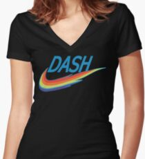 My little Pony Rainbow Dash parody Women's Fitted V-Neck T-Shirt