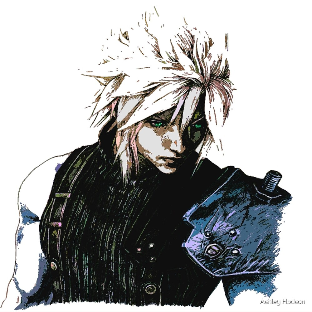 Cloud Final Fantasy 7 by Ashley Hodson