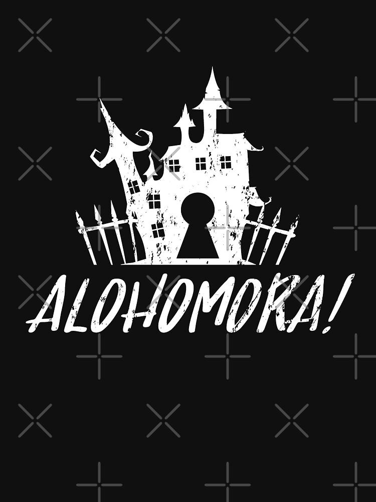 Halloween Castle Alohomora Grunge by NextLVLShirts