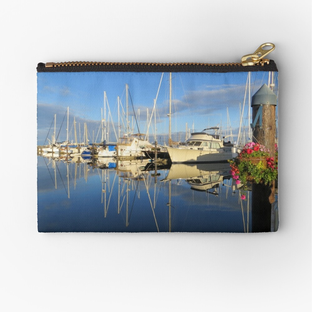 Beautiful and Colorful Yachts and Sailboats in a Marina Zipper Pouch