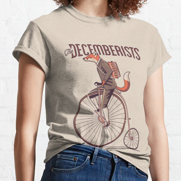 The Decemberists - folk rock band - poster design, the fox on the bike. Classic T-Shirt