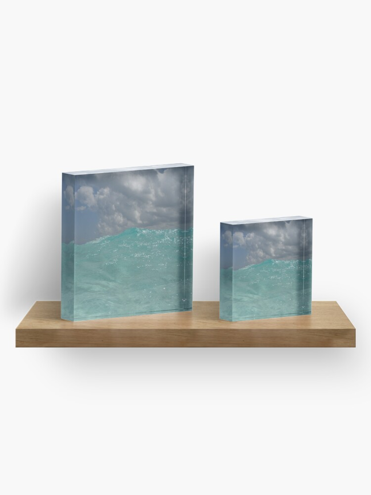 Alternate view of Crystal Clear Blue Caribbean Waters Acrylic Block
