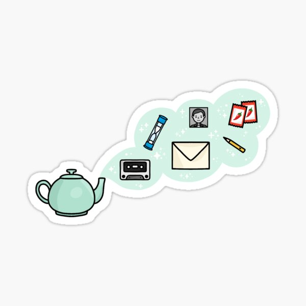 The Office Teapot Gifts Sticker