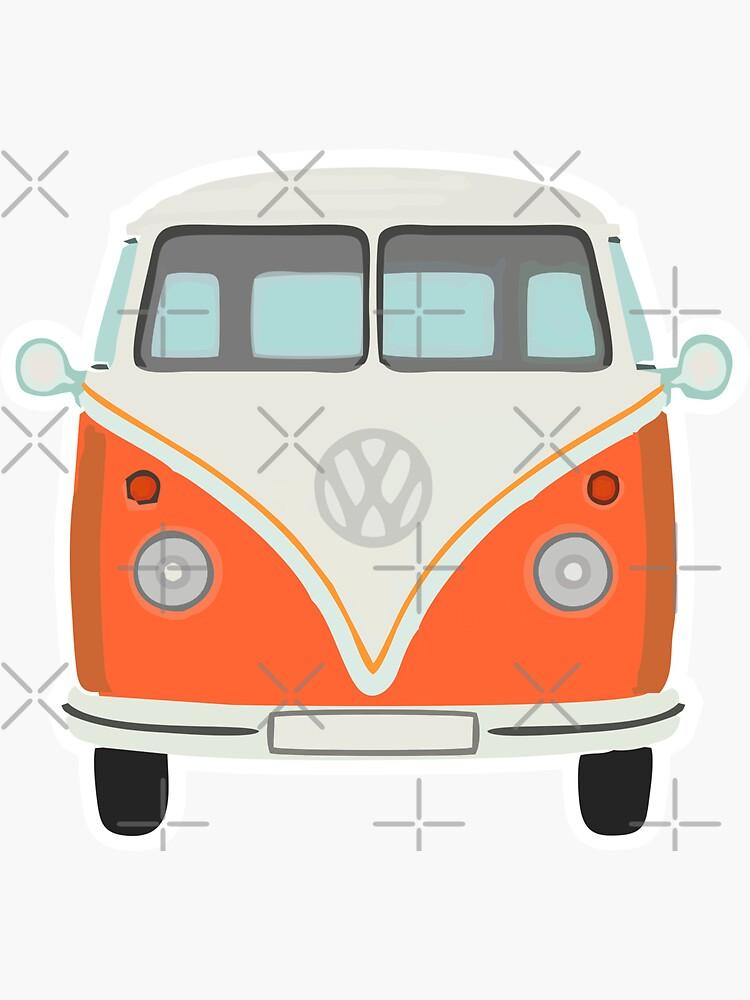 Orange Camper Van by stickysterscom