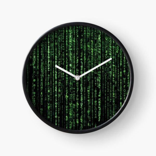 Matrix Green Code secret Password Clock