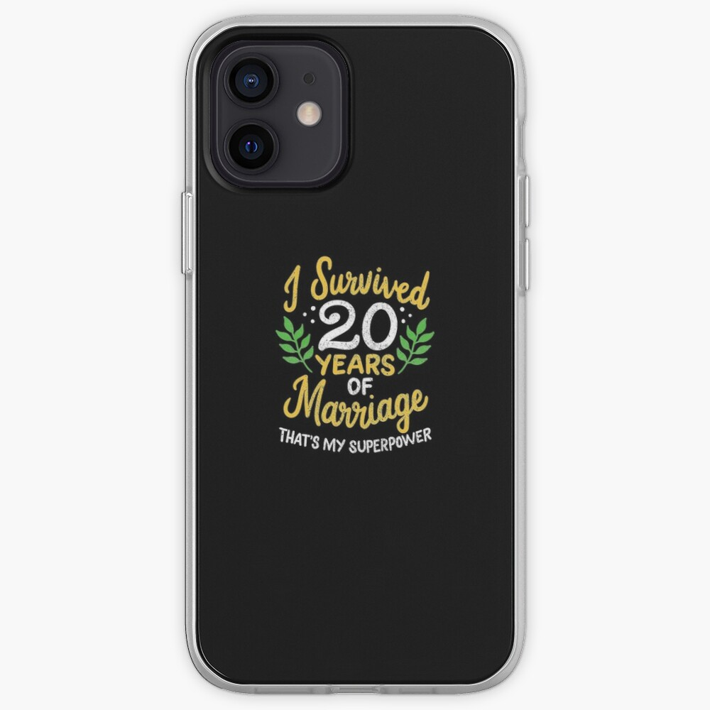 20th Wedding Anniversary Survived 20 Years Of Marriage iPhone Case & Cover