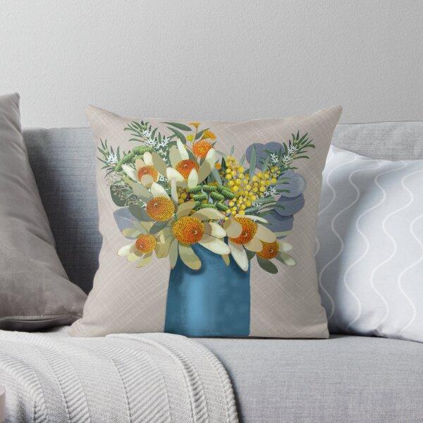 Native Aussie Garden  Throw Pillow