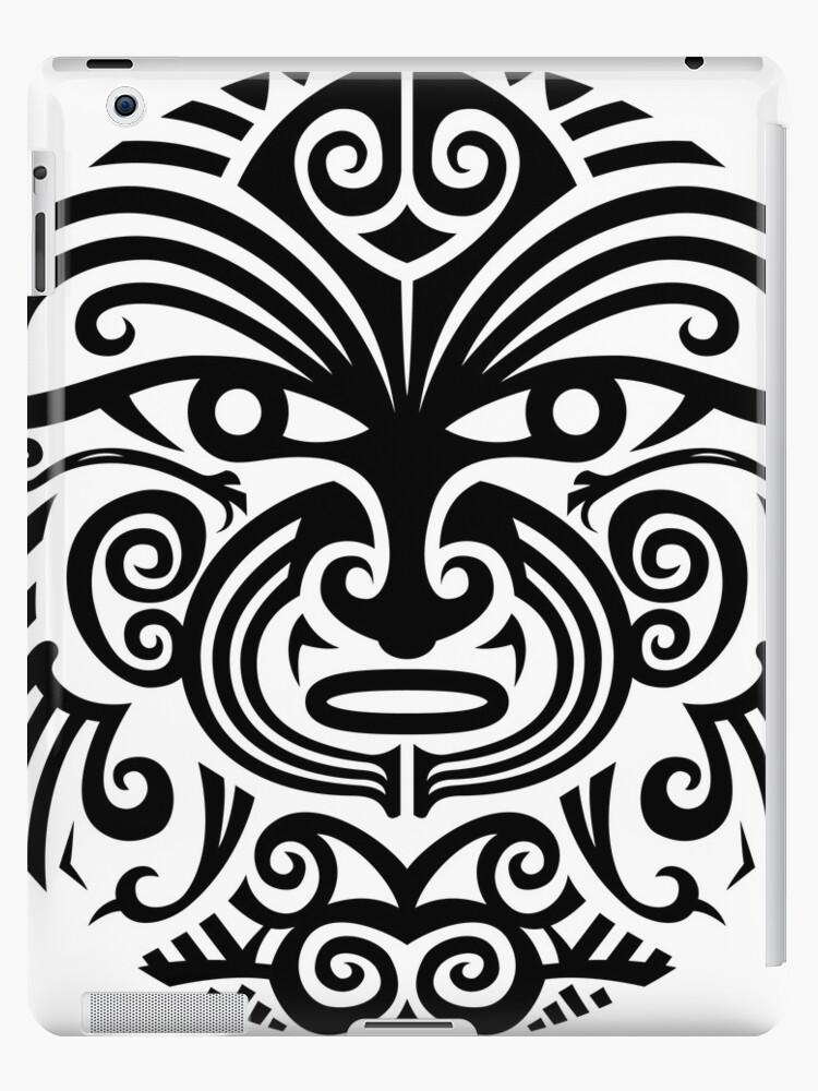 54e7e0858 Maori tattoo face - white