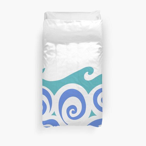 Blue waves ocean Duvet Cover