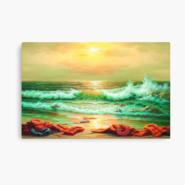 BANKSY MEDITERRANEAN SEA VIEW 2017 Canvas Print