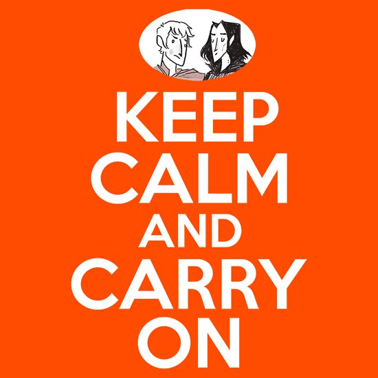 TShirtGifter presents: Keep Calm and Carry On, Simon Snow | Unisex T-Shirt