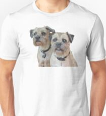 Two Border Terriers  Unisex T-Shirt
