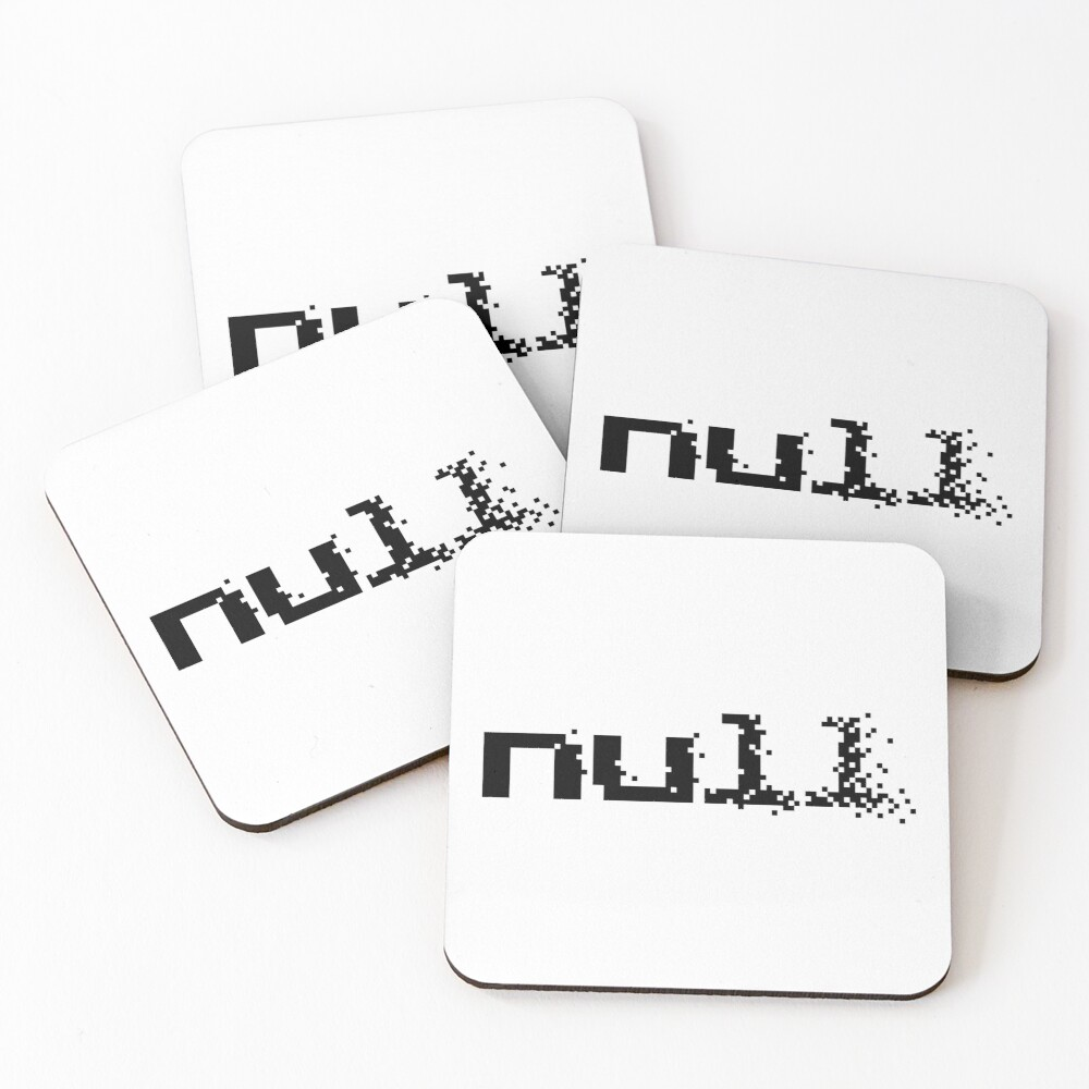 null fading away in pixels Coasters (Set of 4)