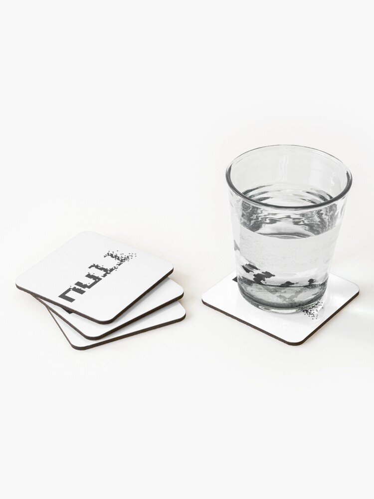 Alternate view of null fading away in pixels Coasters (Set of 4)