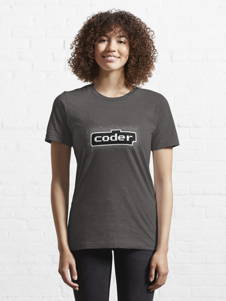 Alternate view of code with the word coder Essential T-Shirt
