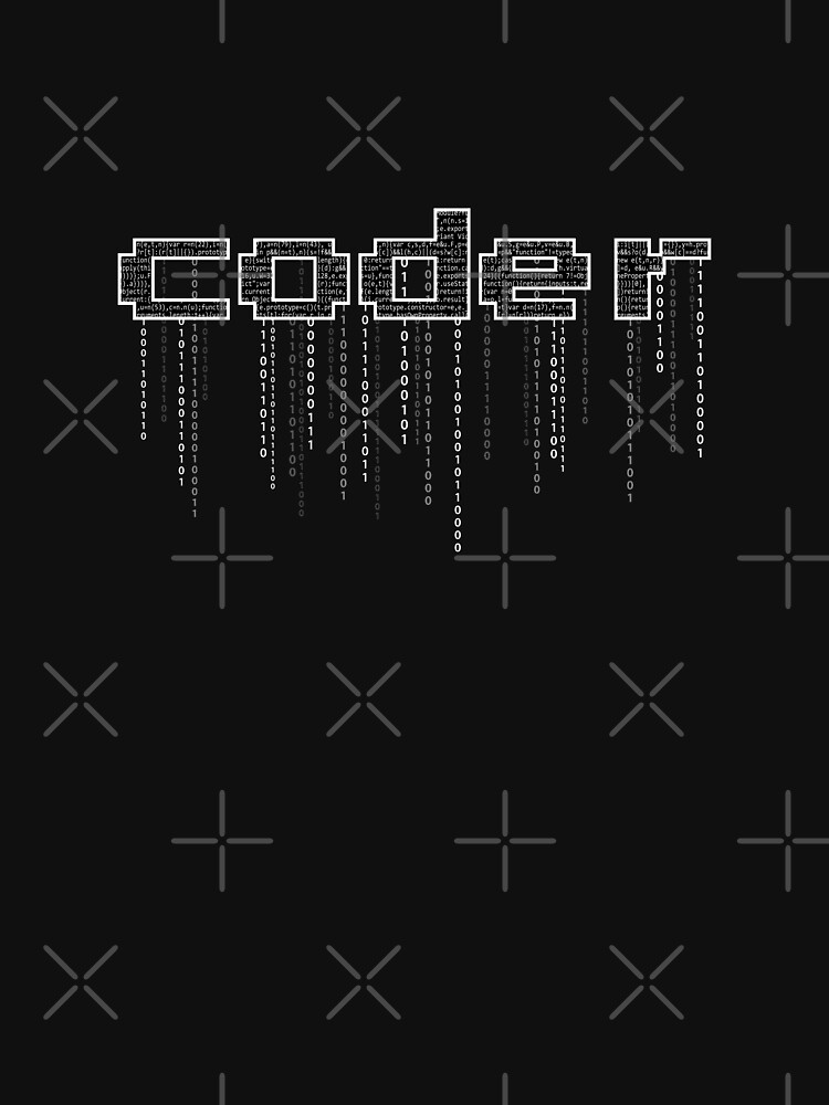 coder with binary numbers by introvertpixel