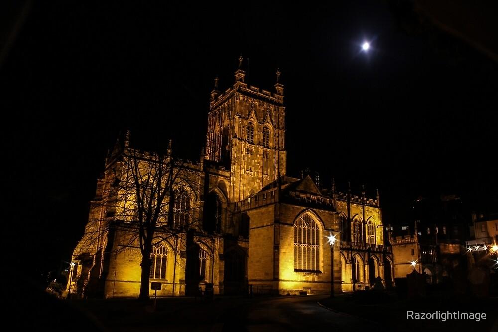 Malvern Priory at Night by RazorlightImage