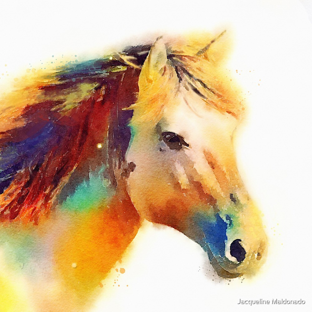 Quot The Spirited Horse Watercolor Painting Quot By Jacqueline