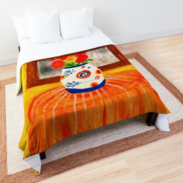Colorful Flowers Comforter