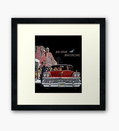 B-58 Buick  Framed Print