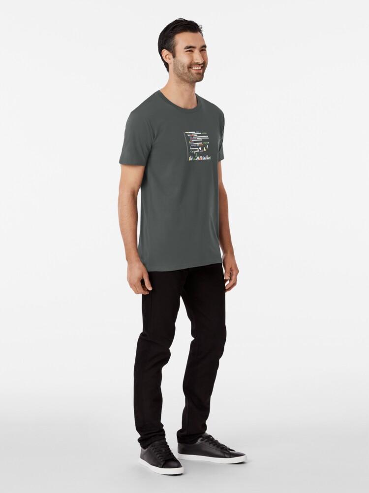 Alternate view of Code blocks representation Premium T-Shirt